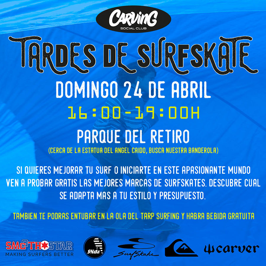 tarde de surfskate by carving social club