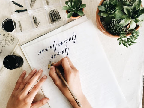 Modern Calligraphy Class at The Paper Seahorse