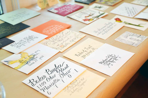 Calligraphy Class at The Paper Seahorse