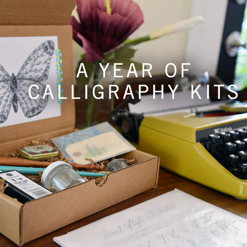 A Year of Calligraphy Kits at The Paper Seahorse