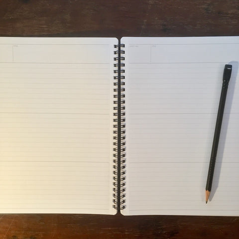 mnemosyne notebook with blackwing pencil