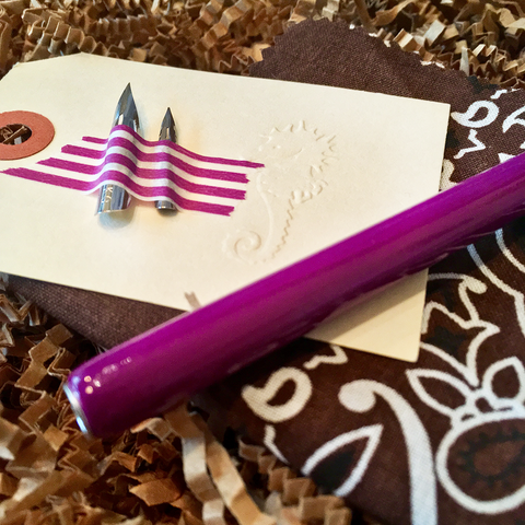 purple calligraphy kit