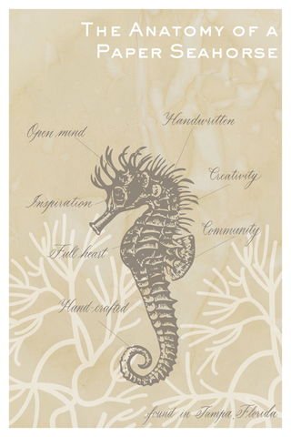 anatomy of a paper seahorse