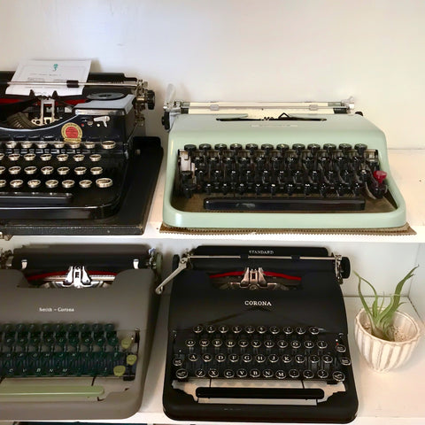 Vintage typewriters at The Paper Seahorse