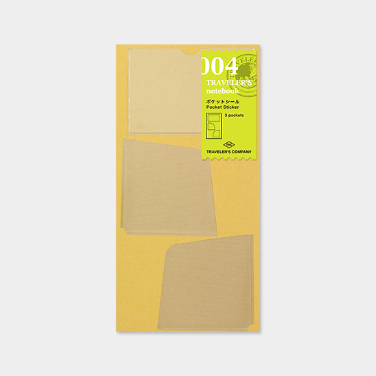 A 004 TRAVELERS notebook pocket sticker in the packaging