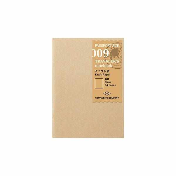 009 Traveler's Notebook Passport - Refill - Kraft Paper Notebook-Midori Traveler's Notebook Refills-Traveler's Company Japan-The Paper Seahorse