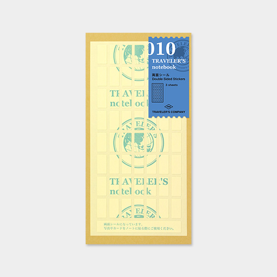 010 Traveler's Notebook Regular  - Refill - Double Sided Sticker