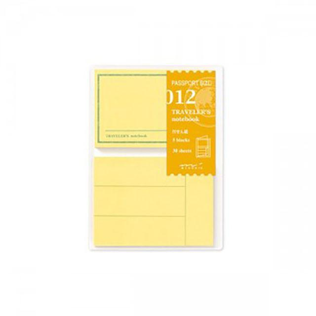 012 Traveler's Notebook Passport - Refill - Post It Pack-Midori Traveler's Notebook Refills-Traveler's Company Japan-The Paper Seahorse