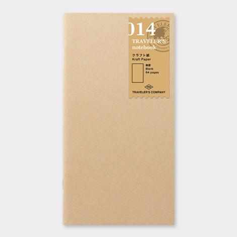 014 Traveler's Notebook Regular - Refill - Kraft Paper Notebook-Midori Traveler's Notebook Refills-Traveler's Company Japan-The Paper Seahorse