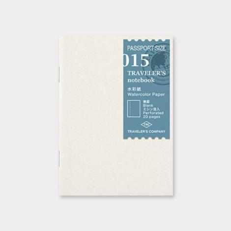 015 Traveler's Notebook Passport - Refill - Watercolor Paper Notebook