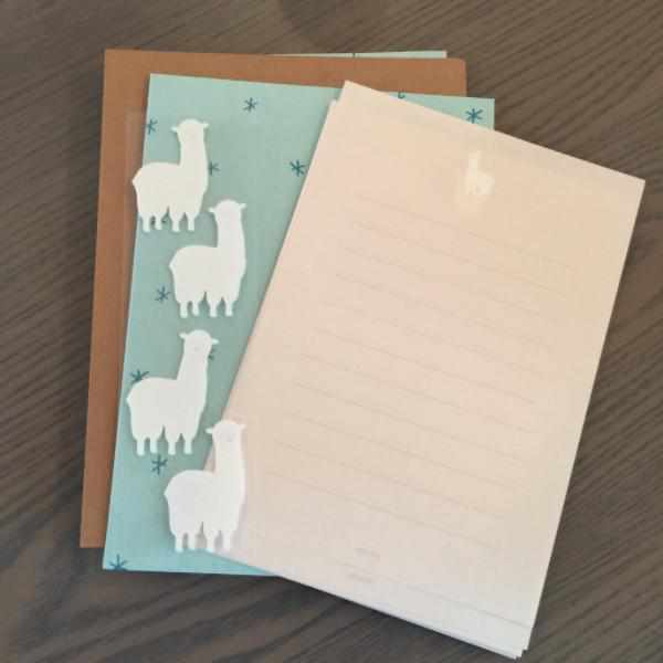 Alpaca Letter Paper with Envelopes-Stationery-Midori-The Paper Seahorse