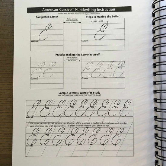 American Cursive Handwriting (Self Study & Workbook Reference) - The Paper  Seahorse