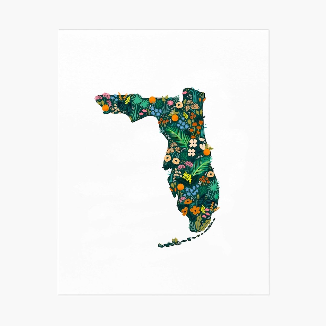 Florida Wildflowers Art Print