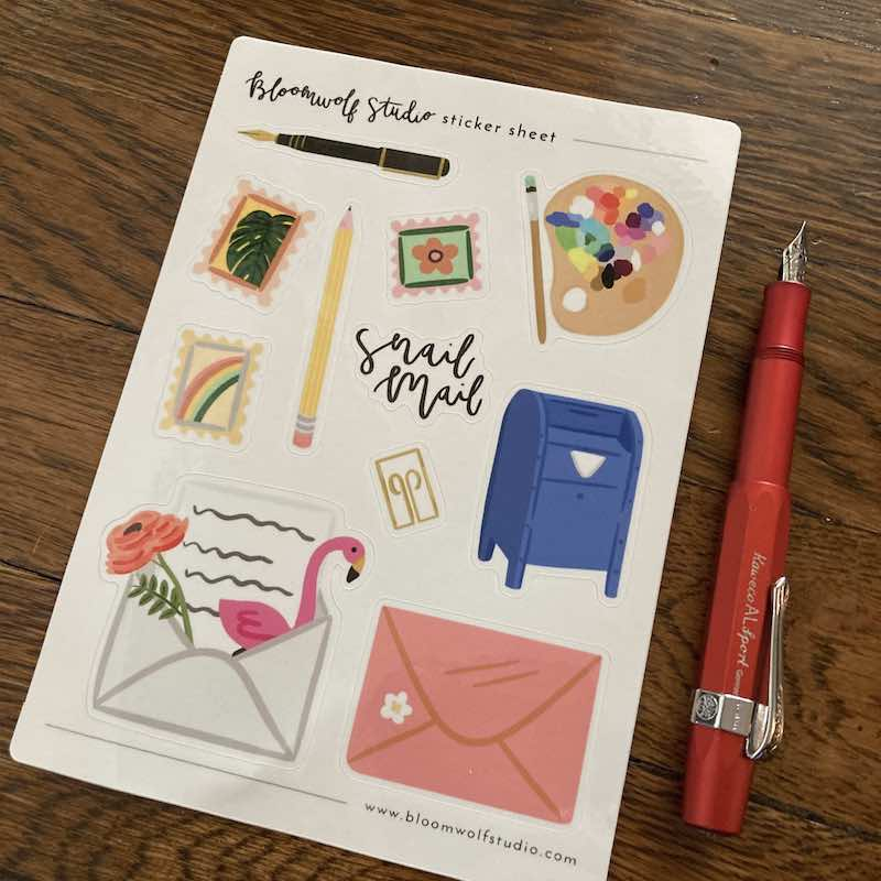 Letter Writing Sticker Set