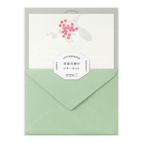 Letterpress Letter Set - Bouquet Red