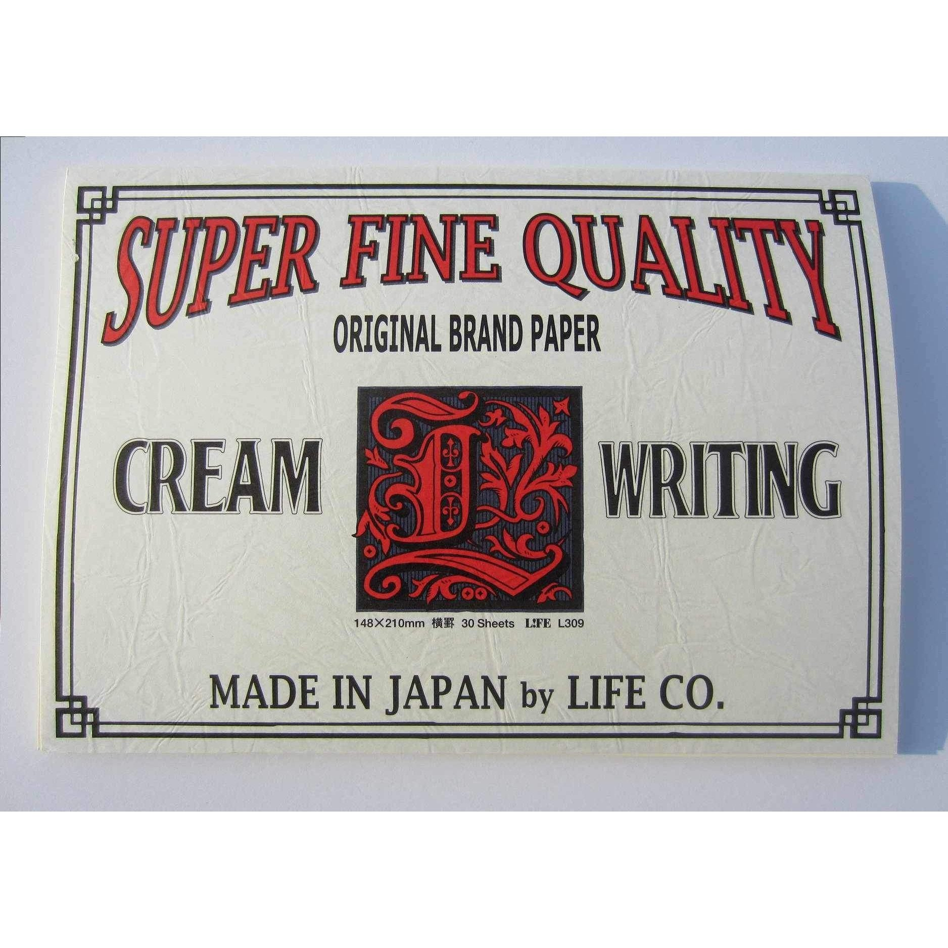 Life Super Fine Quality Cream Writing Letter Pad - A5 - Ruled-Notepad-LIFE BRAND-The Paper Seahorse
