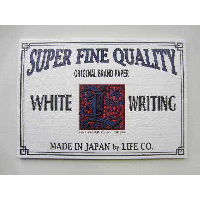 Life Super Fine Quality White Writing Letter Pad - A5 - Ruled-Notepad-LIFE BRAND-The Paper Seahorse
