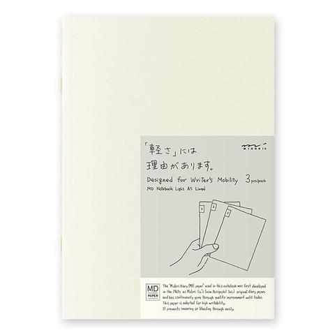 MD Paper Notebook Light - A5 Ruled - Set of 3