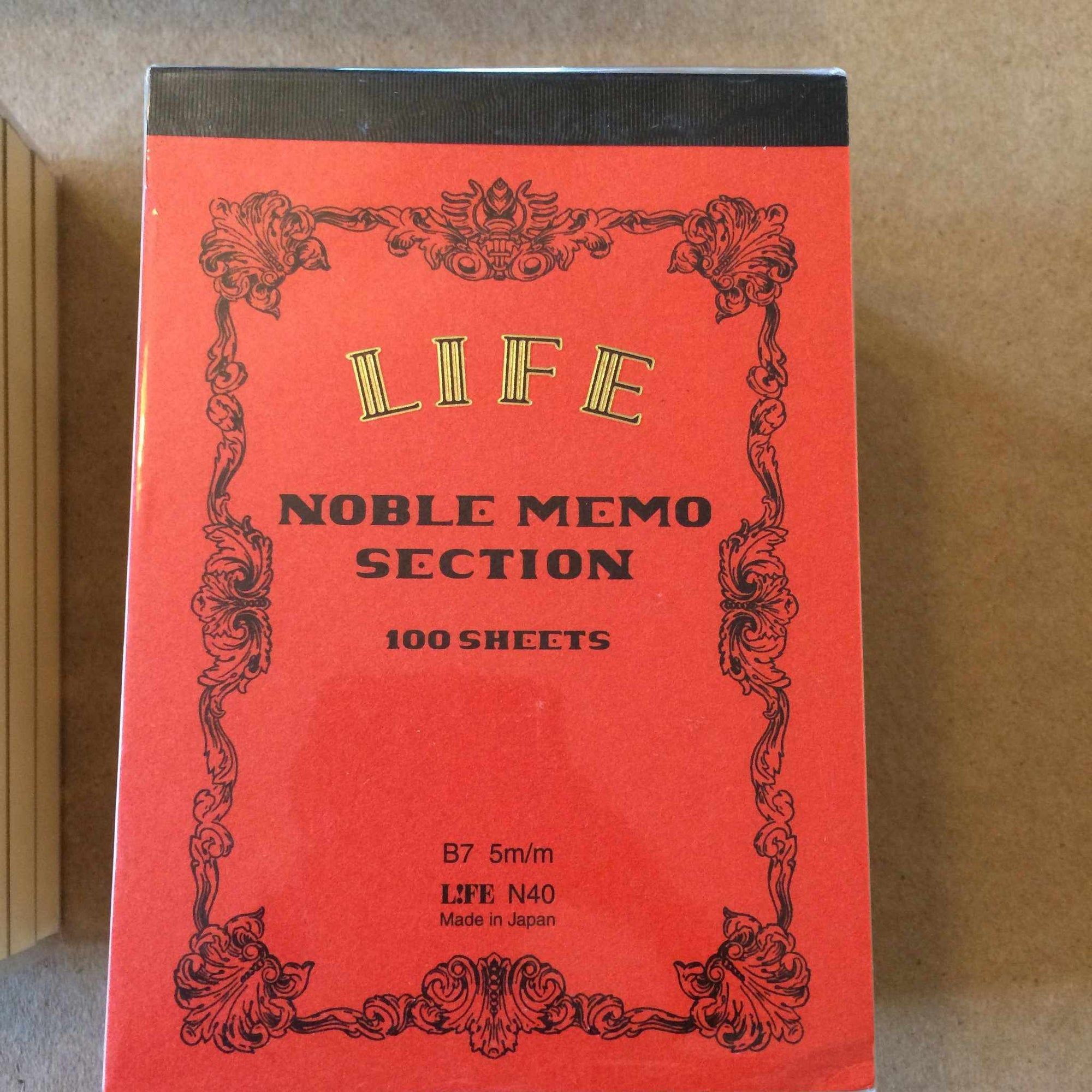 Noble Memo Pad - B7-Notepad-LIFE BRAND-orange-The Paper Seahorse