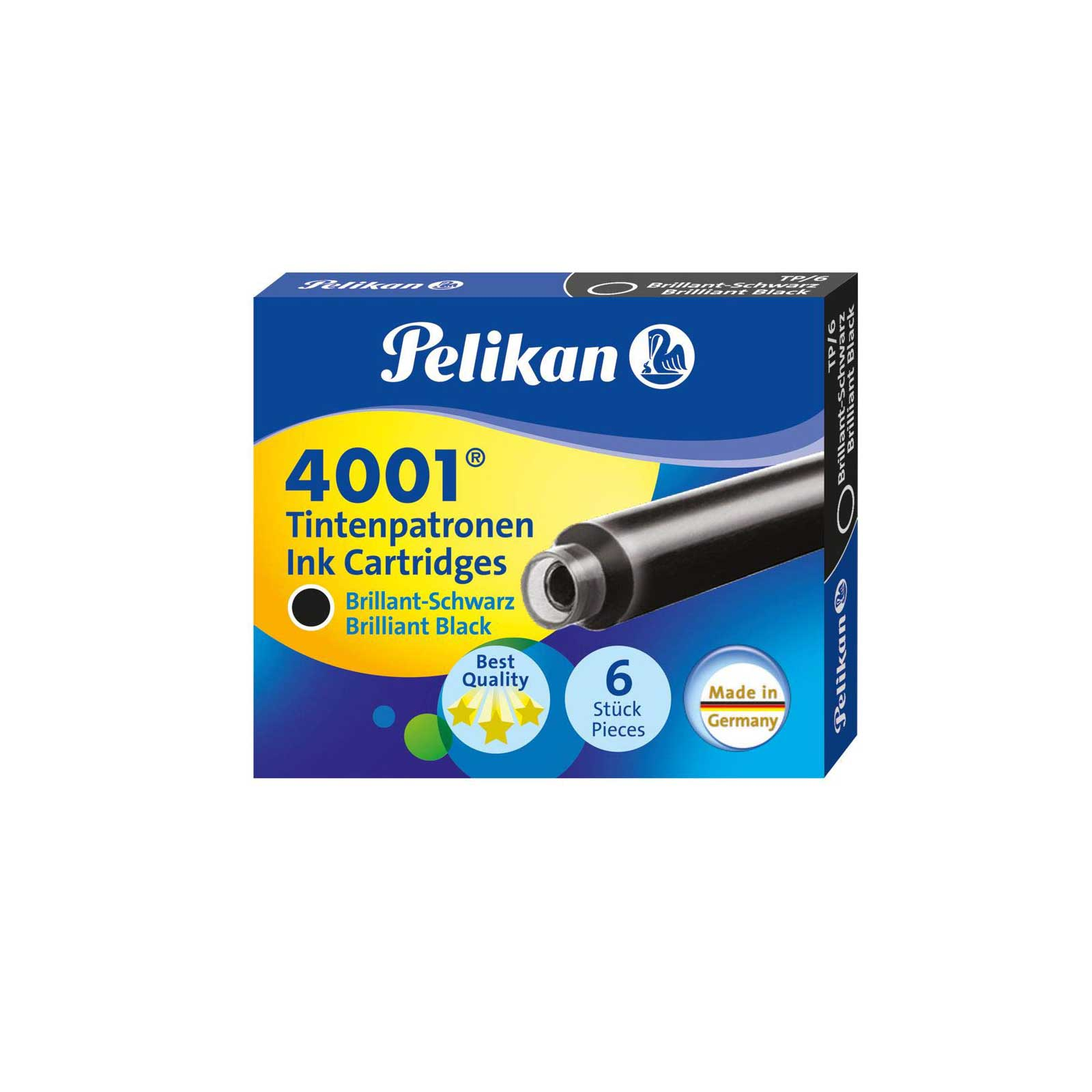Pelikan 4001 TP/6 Ink Cartridge - Brilliant Black