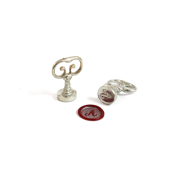 Scroll Handle Swirl Alphabet Wax Seal - Individual Letters