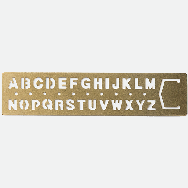 TRC - Brass Alphabet Template Bookmark-Accessories-Traveler's Company Japan-The Paper Seahorse