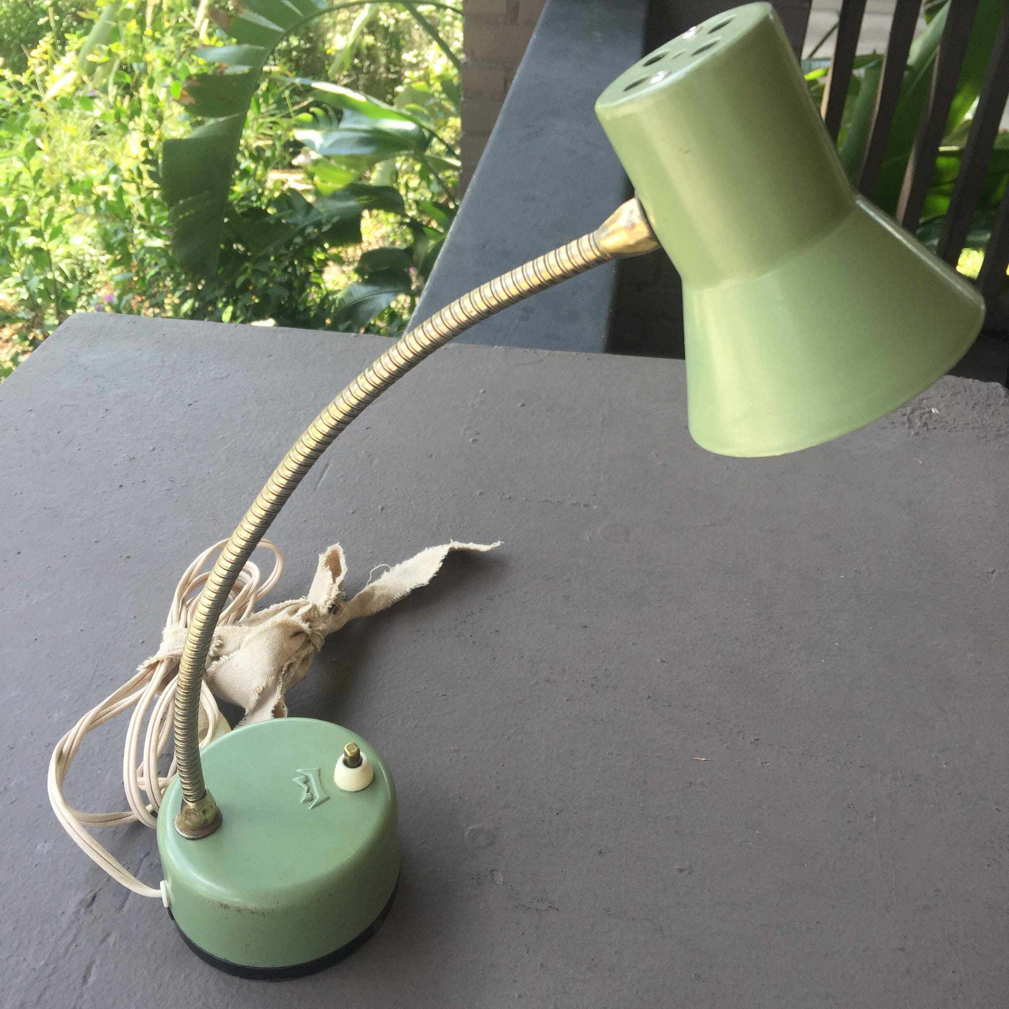 Vintage Mobilette Goose Neck Desk Lamp-Accessories-Frivolous Dry Goods-The Paper Seahorse