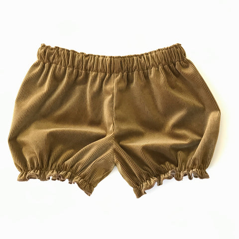 Golden Brown Corduroy Velvet Bloomers