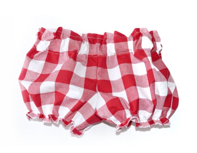 Red & White Gingham Check Cotton Bloomers