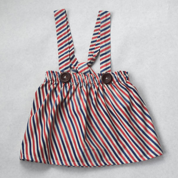Vintage-look stripe bloomers or jumper skirt