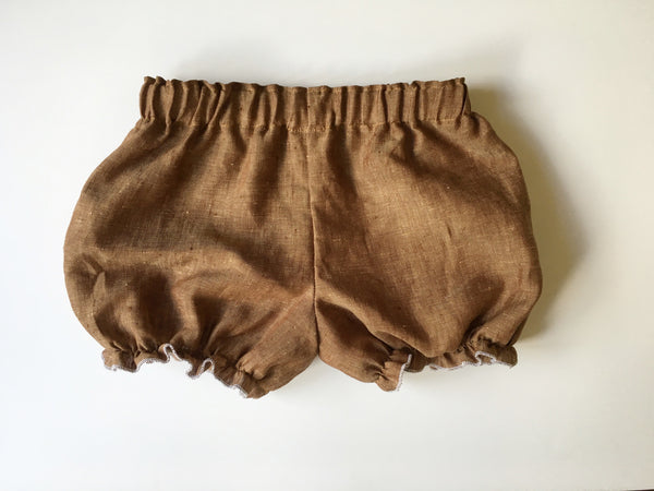 Brown Linen Bloomers