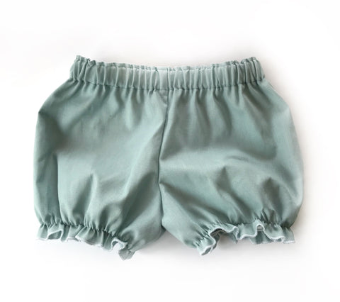Dusty blue linen bloomers