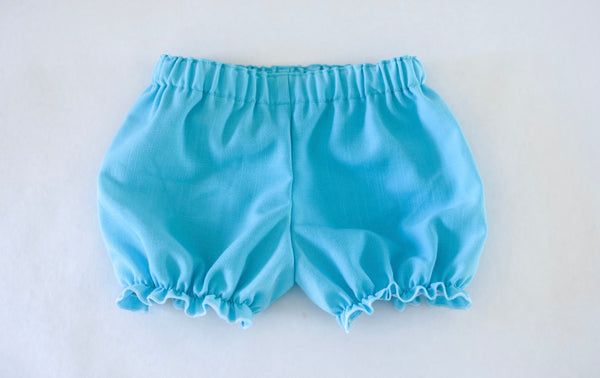 Aqua linen fabric bloomers