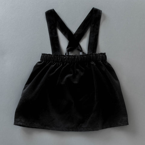 Black corduroy jumper skirt / suspender bloomers