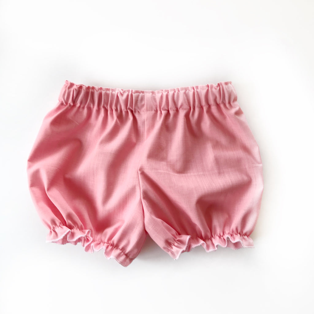 Perfectly pink linen bloomers