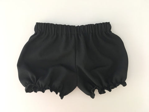 Black Linen Bloomers