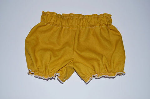 Mustard Yellow Linen Bloomers