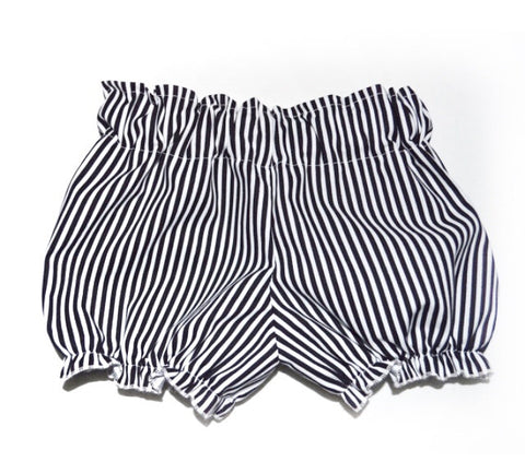 Black and white stripe cotton bloomers