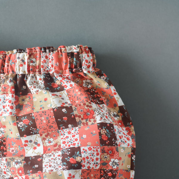 RTS size 2T Vintage Fall Patchwork Floral bloomers