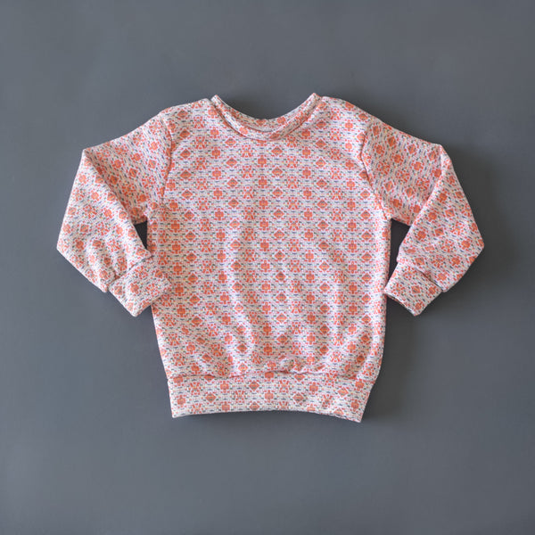RTS size 3T Orange Vintage Knit pullover