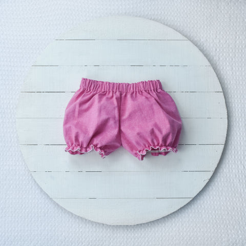 RTS size 2T Pink chambray bloomers