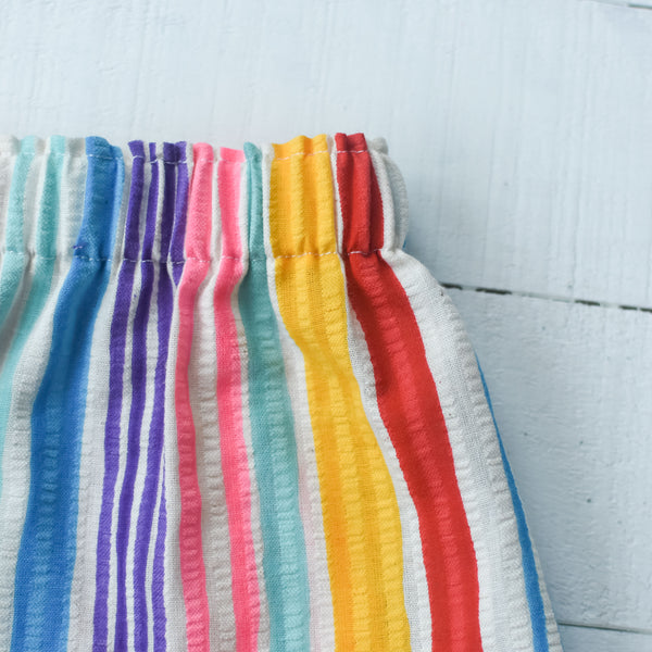Vintage seersucker rainbow stripe bloomers