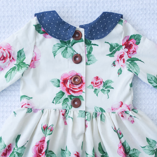 Vintage Roses Peter Pan collar dress