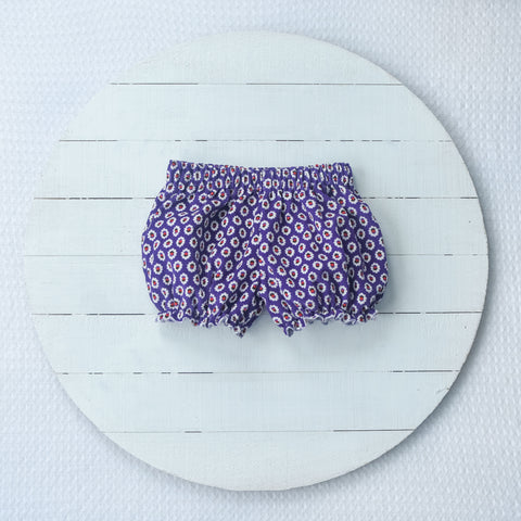 RTS size 2T Purple floral corduroy bloomers