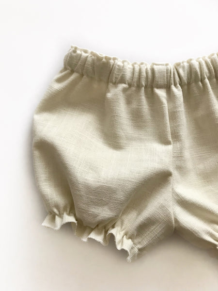 Cream/Ivory linen bloomers