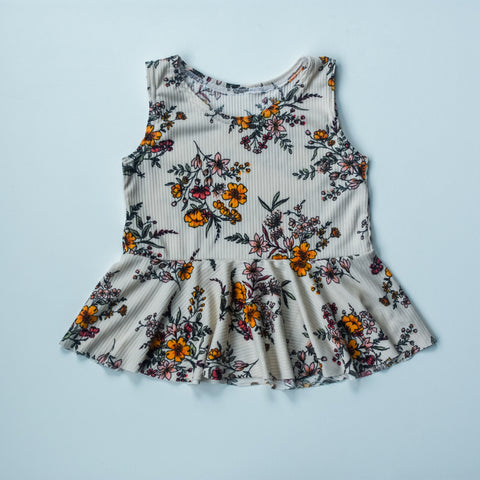Wildflower tank peplum