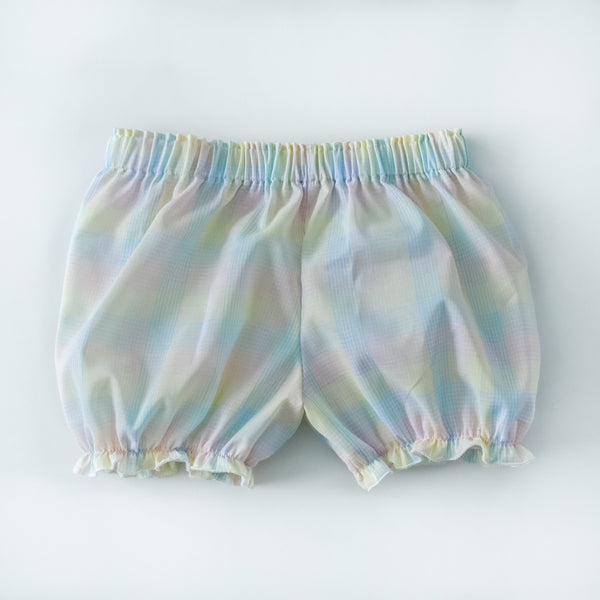 Vintage Pastel Rainbow plaid bloomers