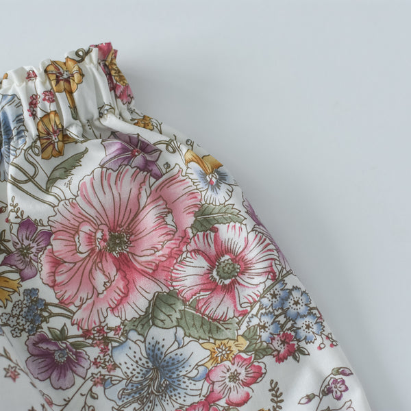 Vintage Garden Floral with Buttons skirt