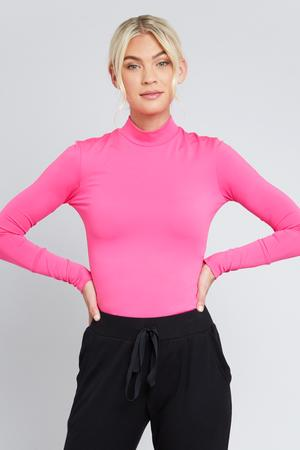 TEREZ All-Use Mock Neck Top
