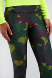 TEREZ Green Striped Camo Super-High Band Leggings